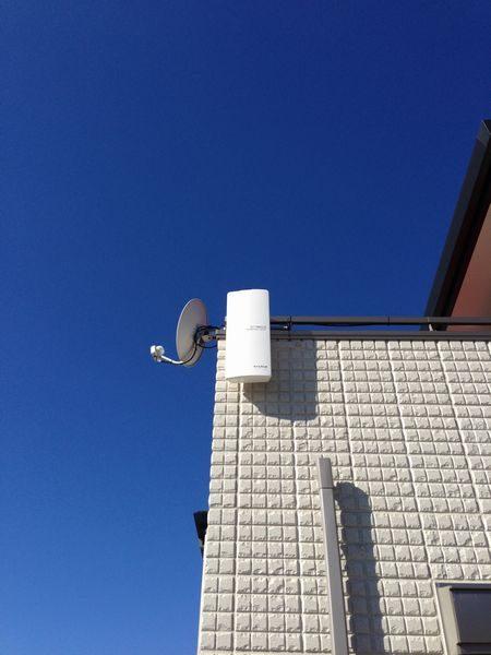 三島市平面アンテナ移設工事
