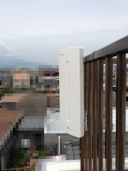 沼津市百年住宅平面アンテナ取付工事
