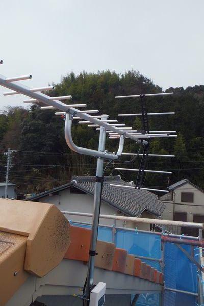 静岡市タマホームアンテナ工事