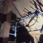 清水町 地デジアンテナ屋根裏設置工事