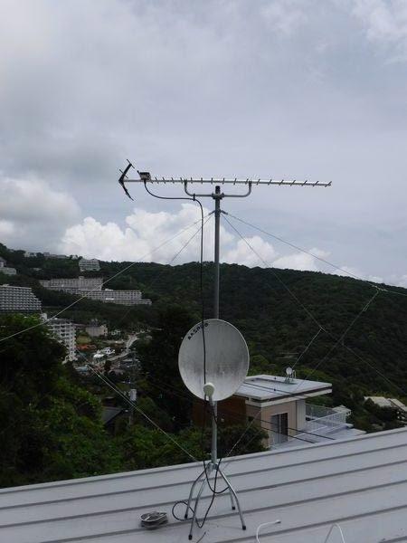 熱海市アンテナ移設工事