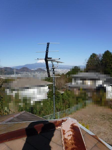 伊豆の国市別荘アンテナ工事